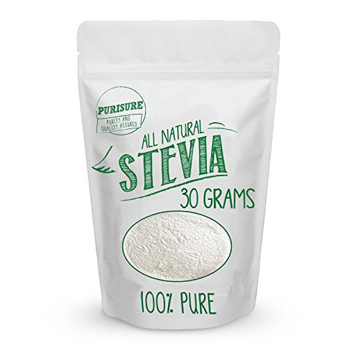 All Natural Stevia Powder 30g (203 Servings), Highly Concentrated Pure Extract, No Fillers, Additives or Artificial Ingredients, Zero-Calorie Sweetener, Best Sugar Substitute