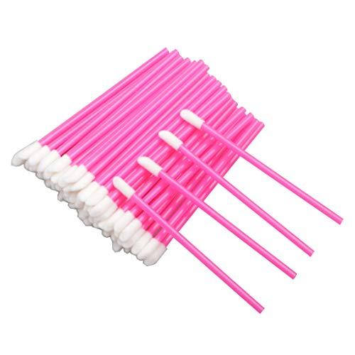 200 Stück Lippenpinsel Einweg-Lippenstift Make-up Pinsel Glanzstäbe Applikator Werkzeug Make-up Beauty Tool Kits (Rose)