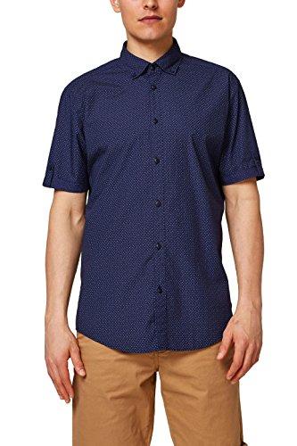 ESPRIT Herren 058EE2F009 Freizeithemd, Blau (Navy 400), 42 (Herstellergröße: L)