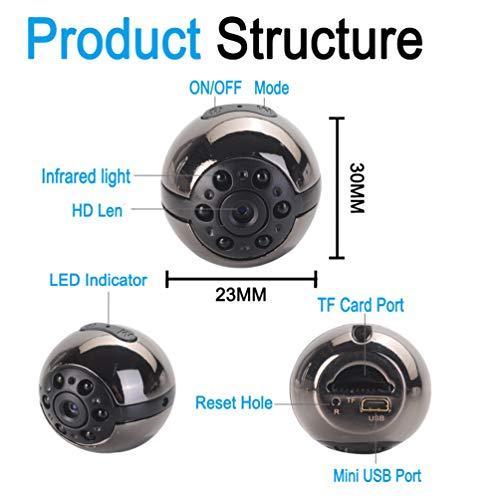 Hidden Mini Camera, 1080P/720P Pocket Security Spy Camera Night Vision Motion Detection Nanny Cam Home Surveillance£¨Round£