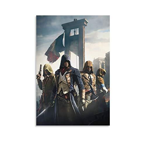 DRAGON VINES Lienzo enmarcado de Assassin's Creed Unity Arno Dorian y la hermandad, para decoración del hogar, 50 x 75 cm