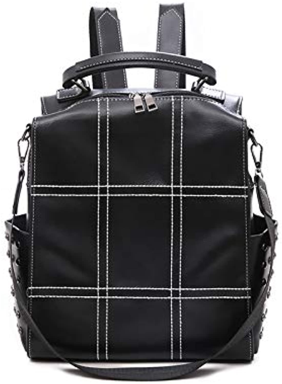 Korean Version of The Simple Backpack Casual Wild Travel Bag Black