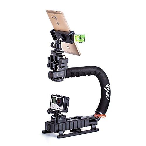 Zeadio Video-Hand-Stabilisator, Upgrade-Version Combo, für alle Smartphone und Kamera