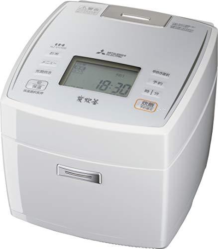 三菱電機 IHジャー炊飯器 備長炭炭炊釜 5.5合炊き ピュアホワイト NJ-VV108-W