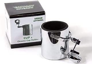 Motorcycle Cup Holder Chrome Handlebar Drink Bottle Holder for Harley Universals (CHROME)