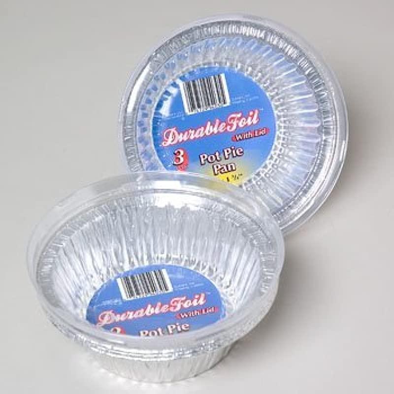 3 Pack Aluminum Pot Pie Pan With Lid