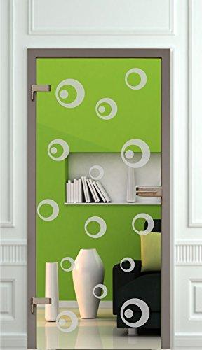 Sichtschutz Aufkleber Folie Glasdekorfolie Tür Bad Dusche Duschwand Badezimmer Glasdekor GD132 Ornament Kreise