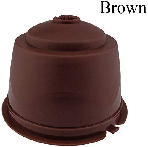 Trichter-Kapseln, Kaffeekapseln, Filter, 4 Stück, BPA-frei, für Zuhause, Küche, Büro, Außenbereich (braun)