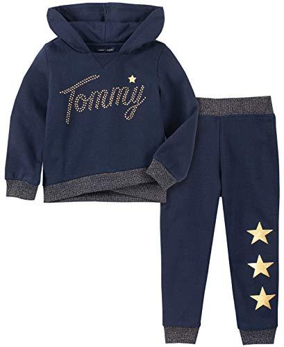 Tommy Hilfiger Baby Girls 2 Pieces Jog Set, Peacoat, 6-9 Months