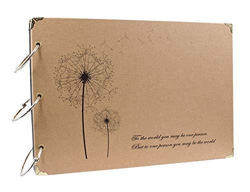 ThxMadam Álbum de Fotos Libros de Firmas para Boda Scrapbooking Album Cuaderno Diario de Viaje Vintage Regalo Original para Aniversario de Boda de Oro Cumpleaños Navidad