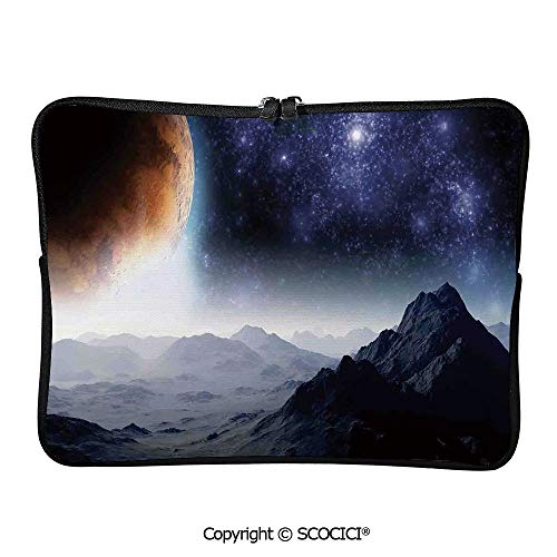 YOLIYANA Laptop Bag Science Fiction of Galaxy Nature Milkyway Laptop Sleeve Bag Water-Resistant Protective Case Bag Compatible with Any Notebook 10 inch/10.1 inch