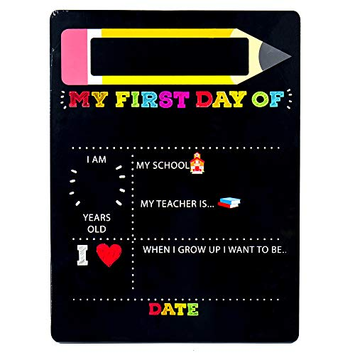 My First & Last Day of School Wooden Chalk Board Now $6.79 (Was $12.99)