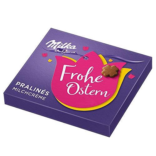 Milka Osterpralinen Milchcrème 110g, Schoko-Pralinen aus zartschmelzender Alpenmilch Schokolade gefüllt mit Milchcrème