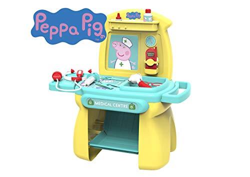Chicos Peppa Pig. Centro Médico de Juguete. Juego de Imitación para Niños. Incluye 11 Accesorios. +18 Meses (Fábrica 84503)