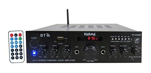 Karma Italiana PA 2380BT 4.0canali Casa con Cavo e Senza Cavo Nero Amplificatore Audio