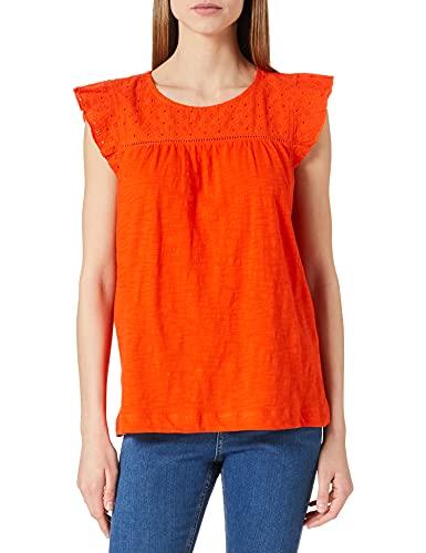 ESPRIT Damen 041EE1K384 T-Shirt, 635/ORANGE RED, XL