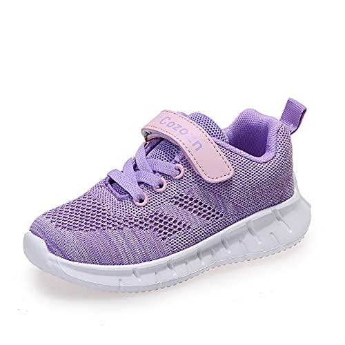 Scarpe Ginnastica Bambina Scarpe da Tennis Ragazze Sportive Corsa Passeggio Kids Girls Sneaker Running Fitness Atletica Leggera Respirabile Invernali Estive, Viola Taglia 33