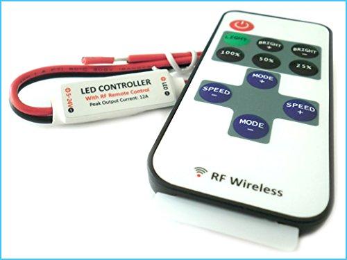 Mini Controller LED-spoel Mono kleur dimmer met afstandsbediening 12 V 24 V 72 W RF101