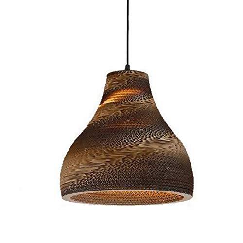 Lámpara de techo de Pantalla de Papel Hueca creativa, lámpara de techo de la bola hecha a mano de E27, lámpara de lámpara de bola hecha a mano, luz de colgante de bricolaje para barra de cafetería de
