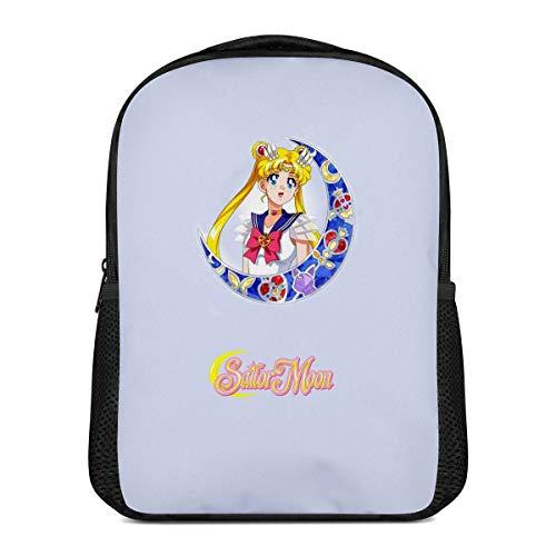 Mochila escolar Sailor Moon, muy adecuada para estudiantes, para el uso diario, viajes, camping (Moon de 9,16 pulgadas)