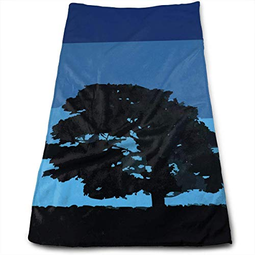 angwenkuanku Tree Silhouette Maximum Softness and Highly Absorbent Printed Towel Bath Towel Hand Towel Hair Towel