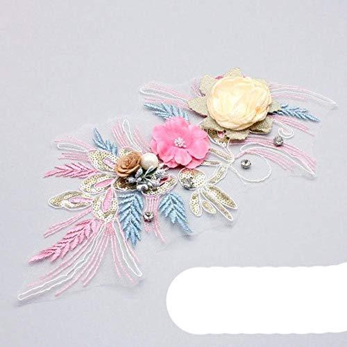 Recin llegado, cuello bordado, tela, ropa, apliques de encaje, escote, ropa de bricolaje, parche, vestidos de novia, accesorios, costura, artesana-ER-1, China