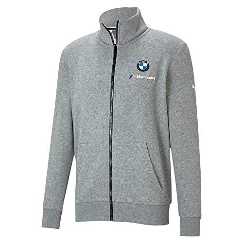PUMA Men's Standard BMW MMS Essentials Sweat Jacket, Medium Gray Heather, X-Large