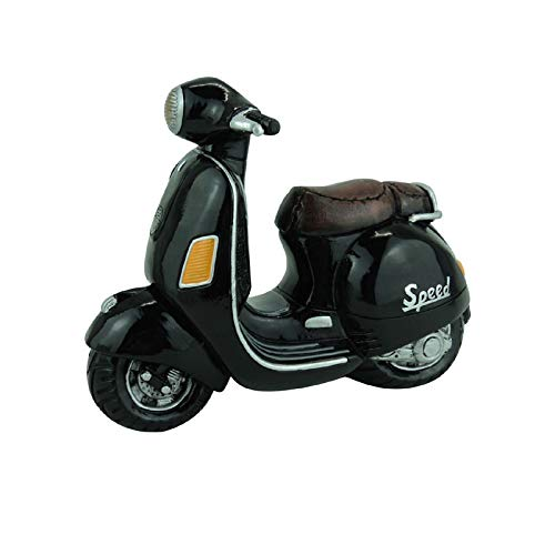 Topshop24you wunerschöne Spardose Motorroller, schwarz sehr edel und groß mit Gummiverschluß