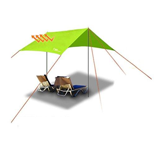 Parasols Paravent Ciel Tente extérieur Pergola Protection UV Camping auvent Pliant Auvent imperméable Caoutchouc et Anti-Pluie, Stores et auvents