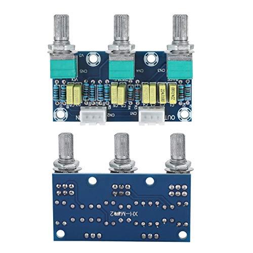Módulo preamplificador, tablero de tono, módulo amplificador de rendimiento estable de alta calidad de 3 canales, uso de audio de piezas