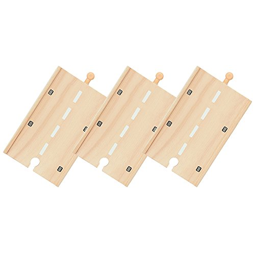 Bigjigs Rail Long tronçon de Route (Lot de 3)