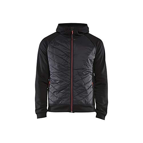 Blaklader 346325269956M Sweat-shirt hybride Noir/Rouge Taille M