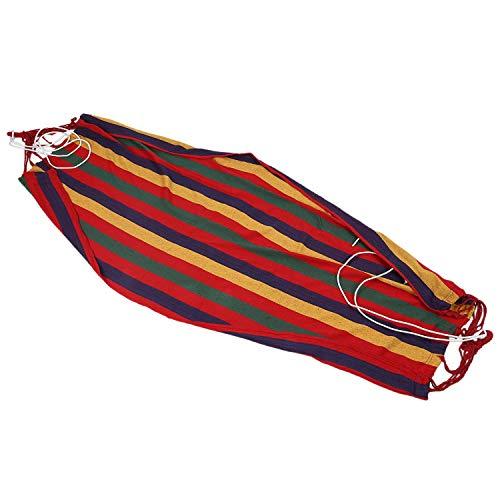 Cuasting Hamaca de lona de 190 cm x 80 cm, resistente y cómoda (rojo)
