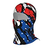 American Flag Balaclava for Men Outdoor Helmet Liner Face Gaiters Sports Full Face Coverings UV Dust Wind Protection Women Full Face Headcover for Summer Hot Weather Motorcycle Climbing Fishing