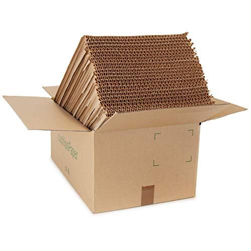 La caja cushionPaper™ por G2C   la alternativa de papel a los envoltorios de burbujas   10 metros de material cortado en 25 hojas de 40 cm x 60 cm x 12 mm de espesor   Reciclable, naturalmente