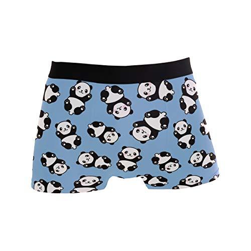 Boxershorts für Männer Atmungsaktiv Niedliches Tier Nahtloses Cartoon-Panda-Muster Unterhose Unterwäsche Stretch Weich Schnell trocknend Sportlich inspirierte Mikrofaser