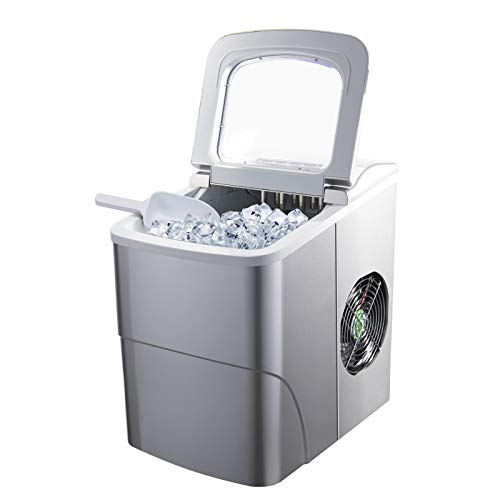 Artidy Countertop Ice Maker Machine, 9 Ice Cubes Ready in 6 Minutes, 26LBS/24H Bullet Ice Cube, Portable Ice Maker with Scoop and Basket for Home, Kitchen, Bar, Office, KTV, Restaurant