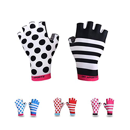Guantes de ciclismo de medio dedo para hombre y mujer, ligeros y...