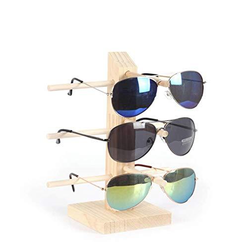 Wooden Eyeglasses Sunglasses Frame Organizer Display Stand Holder Shop Home...