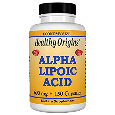 Healthy Origins - Alpha Lipoic Acid 600mg x 150 Capsules | Powerful Antioxidant | 5 Month Supply | Gluten-Free | Soy-Free | Dairy-Free
