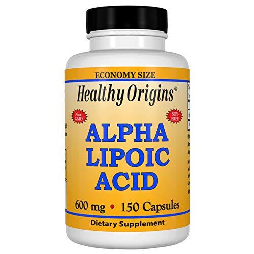 Healthy Origins | Alpha Lipoic Acid (Alpha-Liponsäure) | 600mg | 150 Kapseln | glutenfrei