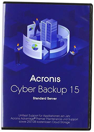 Acronis Cyber Backup Standard Server - (v. 15) - Box-Pack + 1 Year Advantage Premier - 1 Server - Linux, Win|Standard|1 Gerät|1 Jahr|PC|Disc|Disc
