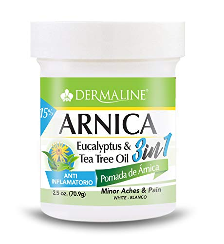Dermaline - Arnica Salve 3 in 1 Aches and Pain Relief Ointment - Anti Inflammatory - Soreness and Bruises