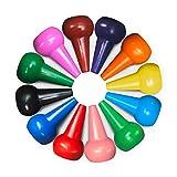 Richgv Crayones para Niños, Ceras Irrompibles de Colores,12 Colores, No Tóxicos, Lavables, Buen Material de Escritura y Dibujo para Niños, Juguetes para Bebés y Niños(Dedo)