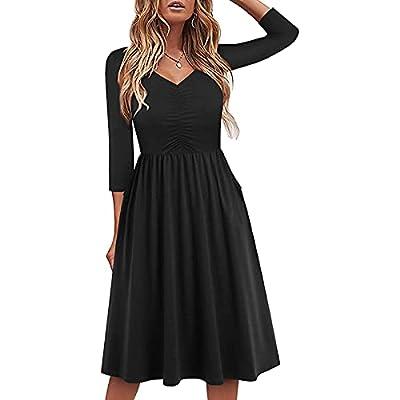 Amazon - 75% Off on Cute Hawaiian Fall Dresses for Women Casual Long Sleeve Knee Length Sun Dress