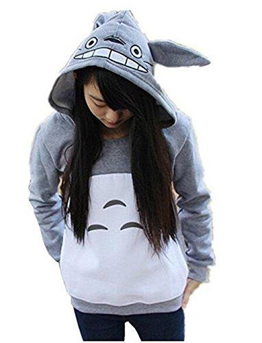 Cartoon Anime Totoro Casual Hoody Sweatshirt for Teens