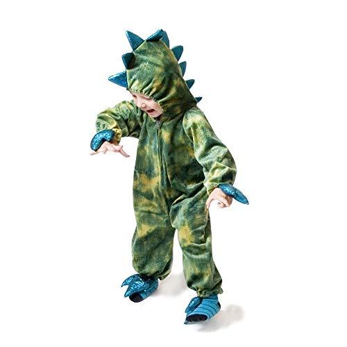 Den Goda Fen - F9755M - Dinosaurier Kostüm - Plüsch Drachen Jumpsuit - 4-6 Jahre - Gr. 110-116 - grün - Krokodilanzug von - Onepiece Dino, Monster
