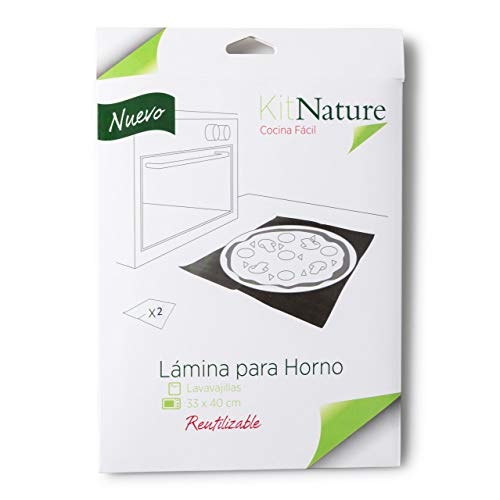Kit Nature Papel de Horno Reutilizable, Lavable, Antiadherente, Libre de PFOA, Evita...