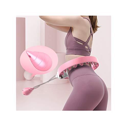 JINGMAI Aro De Hula Inteligente, Longitud Ajustable Aros De Fitness, Masaje De Absorción De Impactos Masaje De Neumáticos por Aptitud Aeróbica En Interiores (Color : Pink, Size : 100kg)