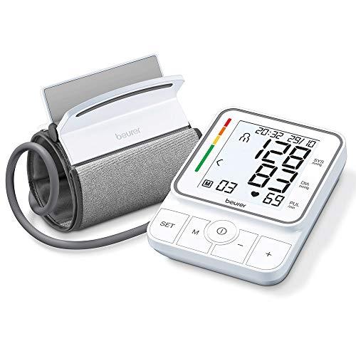 Beurer BM 51 easyClip Oberarm-Blutdruckmessgerät mit innovativer Clip-Manschette für einfaches Anlegen mit nur einem Handgriff, vollautomatische Blutdruck- und Pulsmessung am Oberarm